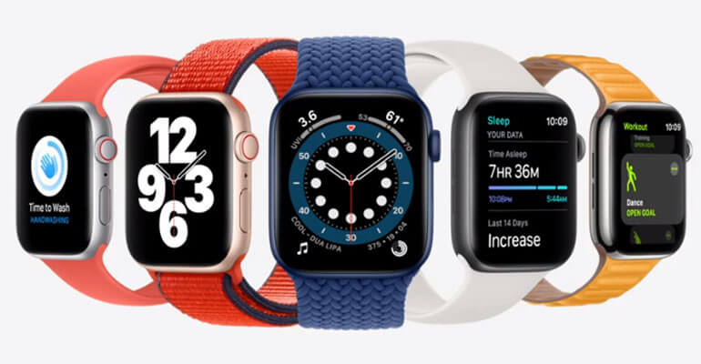 Apple Watch Series 6 - different bands