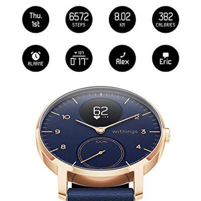 Withings Steel HR Hybrid Smartwatch tracking