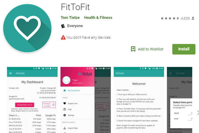 fitbit works with google fit